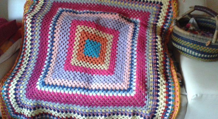 Granny Decke Gehäkelt Blog Wolle Wollede